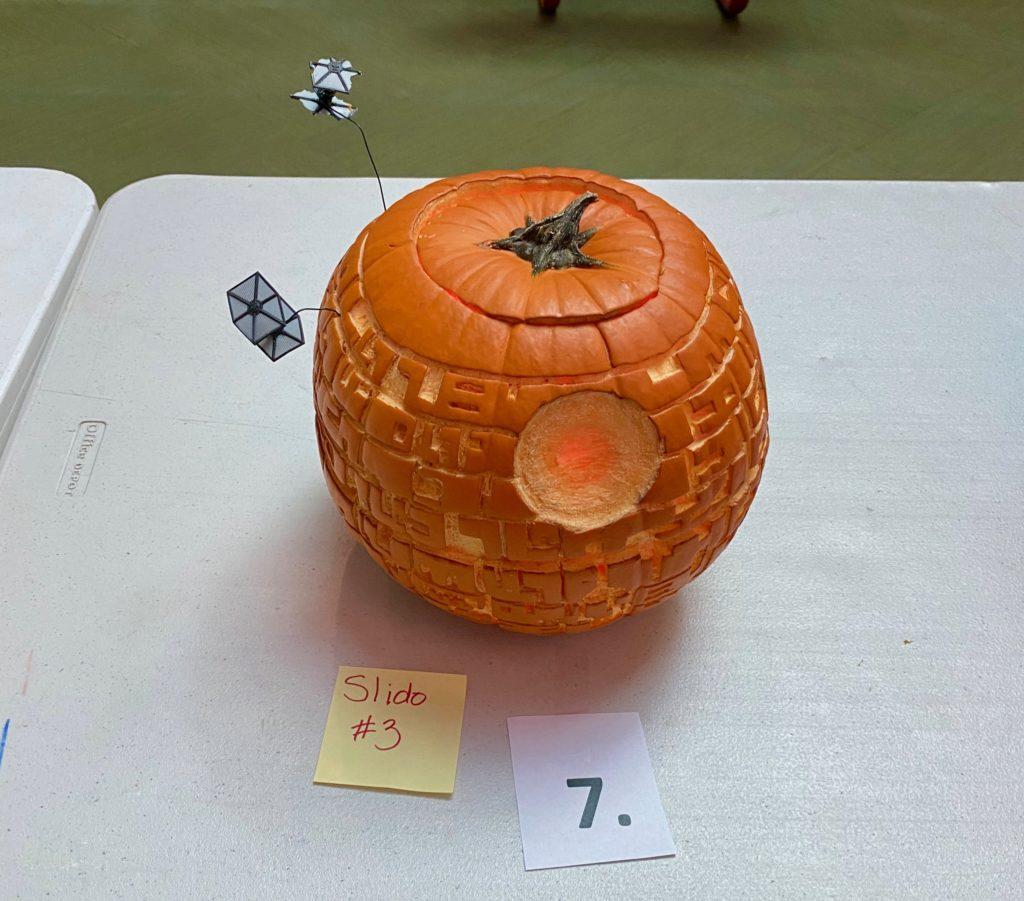 Pumpkin carved Death Star